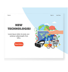 new technologies website landing page vector image
