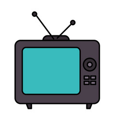 Old tv retro icon vector