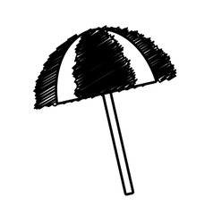outline umbrella sun protection beach vector image