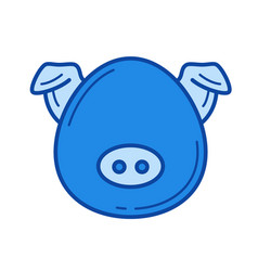 pork meat line icon vector image