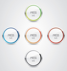 Press Me button vector image