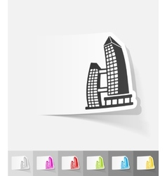 Realistic design element singapore building vector