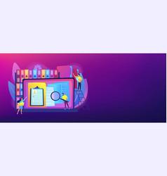 Records management concept banner header vector