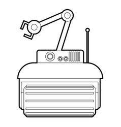 Robot crane icon outline vector