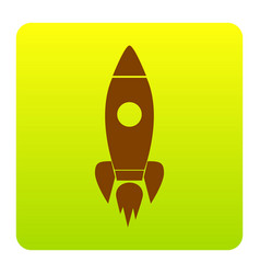 rocket sign brown icon at vector image