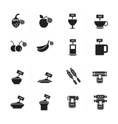 Sale foods icon set vector