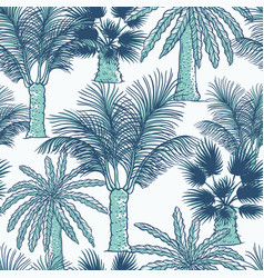 seamless pattern of palmtrees different vector image