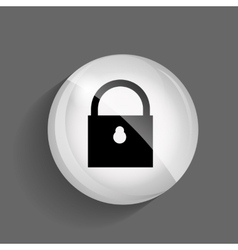 Security Glossy Icon vector image