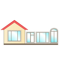 Set windows for installation in home vector