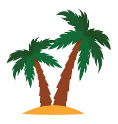 Small island on white background vector