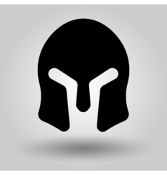 Spartans Helmets full face silhouette vector image