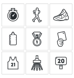Sport Walking icons vector