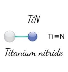 TiN titanium nitride molecule vector