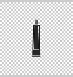 Tube of toothpaste icon on transparent background vector