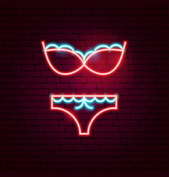 underwear neon sign vector image