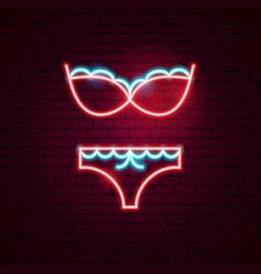 Underwear neon sign vector