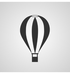 Vintage hot air balloon flat style vector image