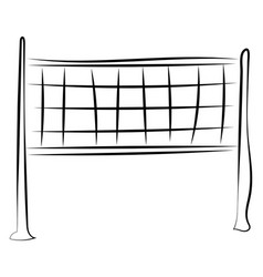 volleyball net drawing on white background vector image