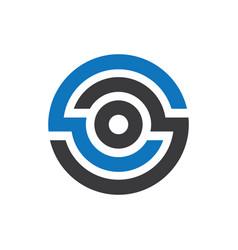 Abstract circle company logo vector