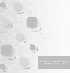 Abstract concept with square composition vector image