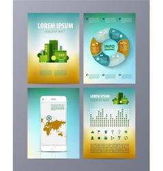 Abstract eco Brochure Flyer design template vector image vector image