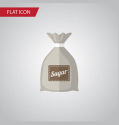isolated sugar bag flat icon sack element vector image vector image