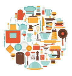 Background with kitchen and restaurant utensils vector image