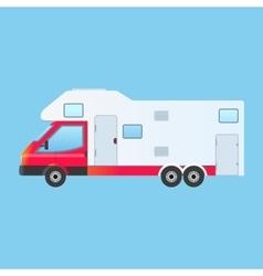 Camping rv trailer family caravan vector