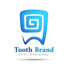 Dental logo tooth symbol design Template for your vector image vector image