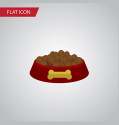 isolated hound eating flat icon dog food vector image vector image
