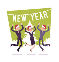 new year office party vector image