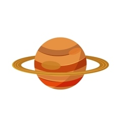 Saturn planet icon in cartoon style vector image vector image