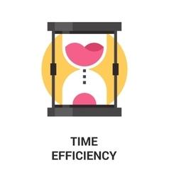 Time efficiency icon concept vector