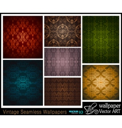 vintage wallpapers vector image