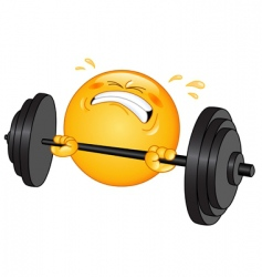 weightlifter emoticon vector image