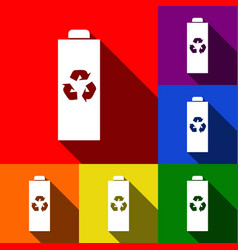 battery recycle sign set of vector image