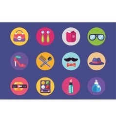Clothes and fashion icons set Shopping Bag vector image