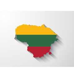 Lithuania map with shadow effect vector image vector image