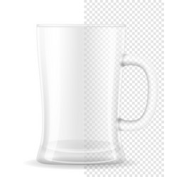 mug for beer transparent stock vector image