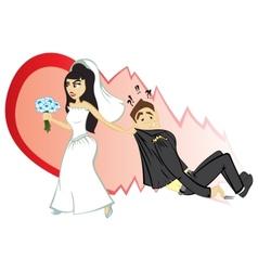Wedding ceremony vector image
