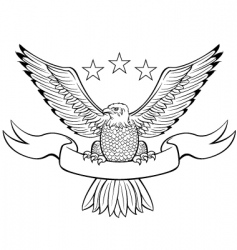 bald eagle black vector image vector image