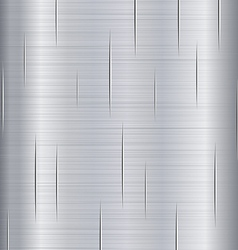 Brushed Metal with Scratches vector image vector image