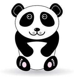 Funny panda on a white background vector image