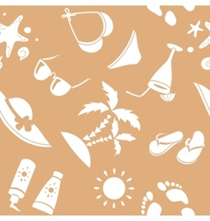 Seamless summer background vector image vector image