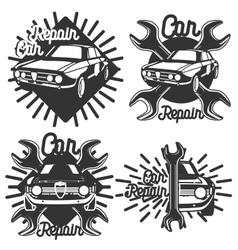 Vintage Car repair emblems vector image vector image