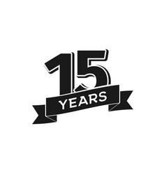 15 years anniversary logotype isolated vector