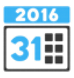 2016 month halftone icon vector image