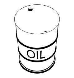a barrel oil vector image
