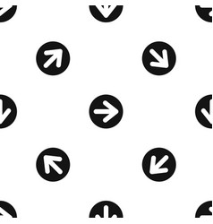 arrow in circle pattern seamless black vector image