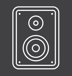 Audio monitor line icon sound and speaker vector